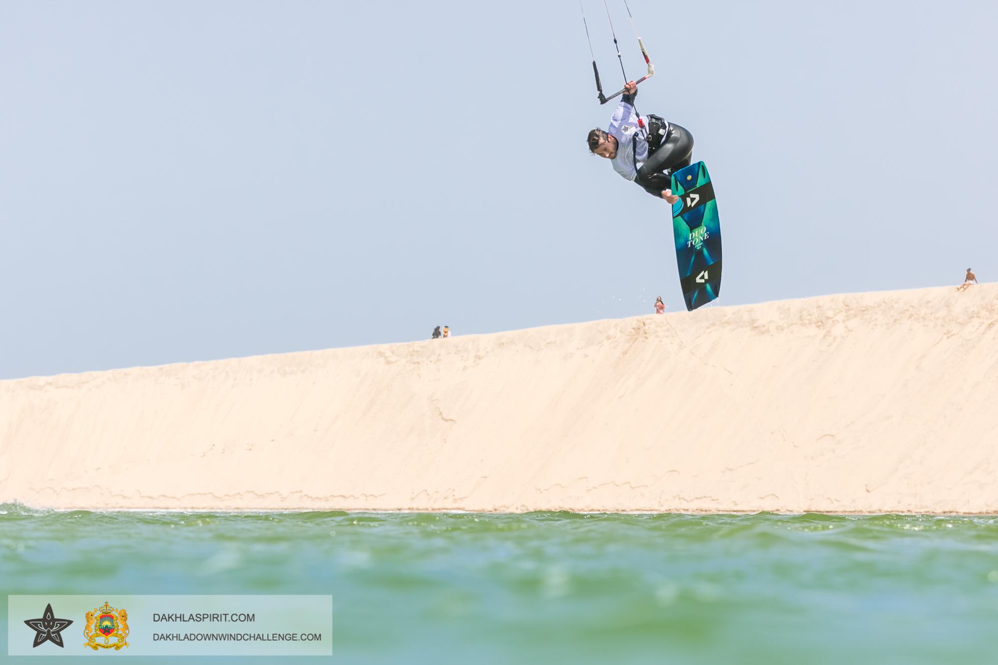 Tom Court kiteboarder